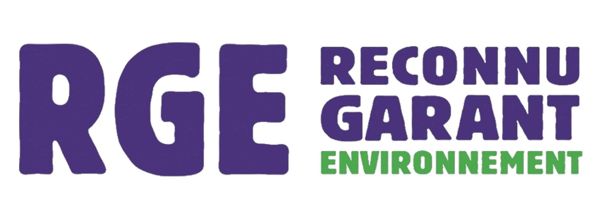 logo label RGE reconnu garant de l'environnement